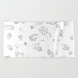 Hands of a Working Woman Beach Towel