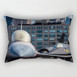 On the Deck of the Intrepid Rectangular Pillow