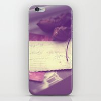 letters iPhone & iPod Skins featuring Letters by Iva Yaneva