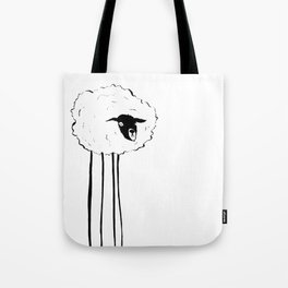 Creepy Sheep Tote Bag