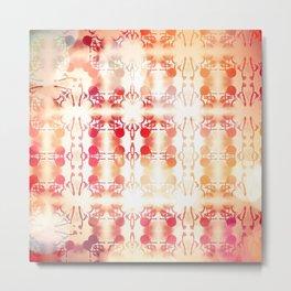 Tie Dye Vintage Abstract Metal Print