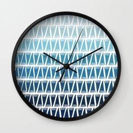 Tee Pee Blue Gradient Wall Clock