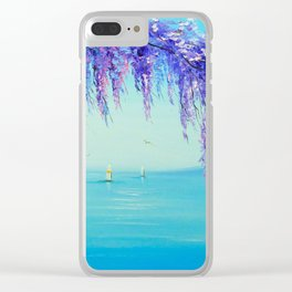 Wisteria by the sea Clear iPhone Case