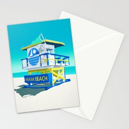 Miami Beach Hut Stationery Cards