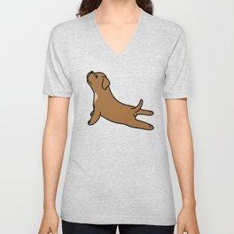 Dogue De Bordeaux Yoga  Unisex V-Neck