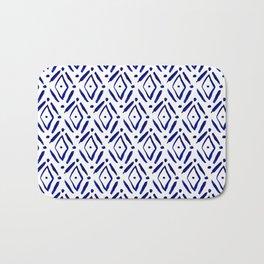 Shibori Diamond pattern Bath Mat