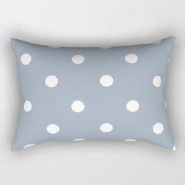 Carolina Blue Dotty Rectangular Pillow