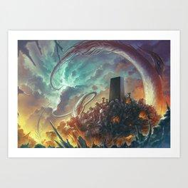 Lovecraft Monolith - By Lunart Art Print