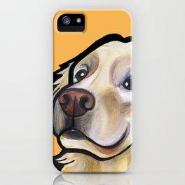 George the golden retriever (orange) iPhone Case