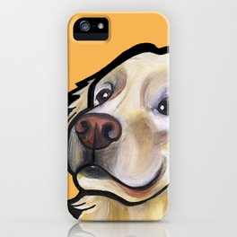 George the golden retriever (orange) iPhone Case