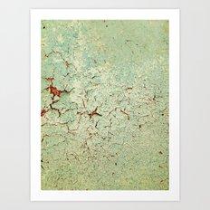 Cracked Wall Texture Art Print