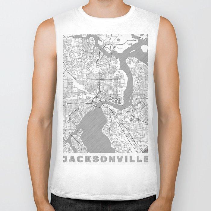 Jacksonville Map Line Biker Tank