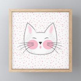 Japanese Kitty Cat Framed Mini Art Print