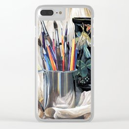 Artist's tools Clear iPhone Case