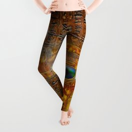 The Prophecy of Fire - Ancient Egypt Eye of Horus Leggings