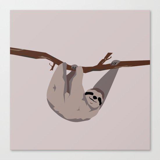 Sloth just hangin' Canvas Print