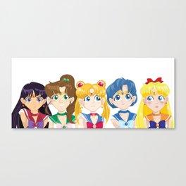 Sailor Moon and Inner Senshi Canvas Print