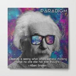 Albert with Bans... in Space Metal Print