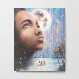The Moon - Tarot Card Art Metal Print