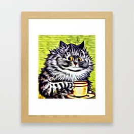 "Louis Wain's Cats ""Kitty On Coffee Break"" Framed Art Print"