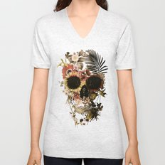 Garden Skull Light Unisex V-Neck