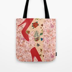 Red Walk Tote Bag