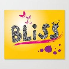 bliss. Canvas Print