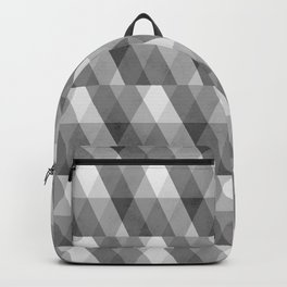 Grey Geometric Distressed Pattern Backpack