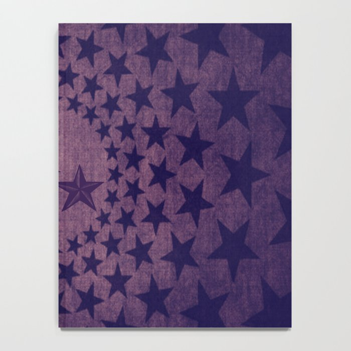 Purple stars decorative pattern Notebook