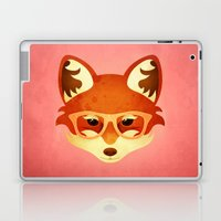 Hipster Fox: Rose Laptop & iPad Skin