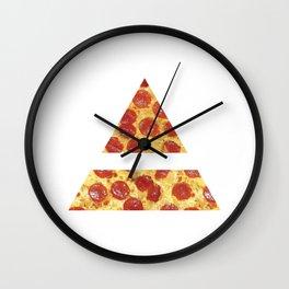 A Million Little Pizzas Wall Clock