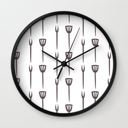 Seamless Pattern with kitchen utensils. Continuos pattern Wall Clock