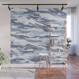 Pastel Blue Dusk Surprise Camo Wall Mural