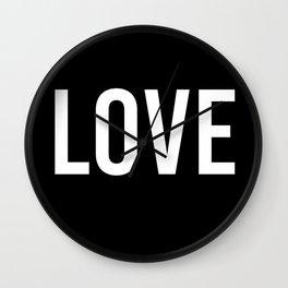 Love - Black and White Design Wall Clock