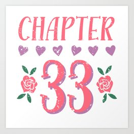 1988 Happy Birthday Chapter 33 Year Old Women Book Lover Art Print