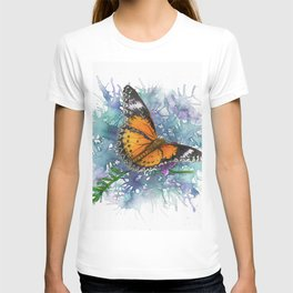 Leopard Lacewing Butterfly In Watercolor T-shirt