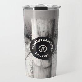 Cabernet - black and white wine photo vineyard Travel Mug