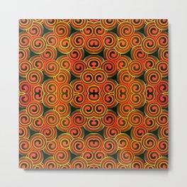 orange round abstract Metal Print