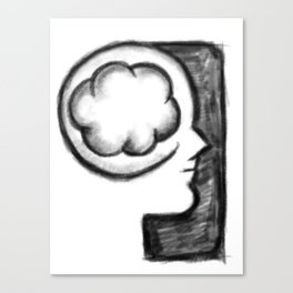 Thoughts on Cloud Canvas Print