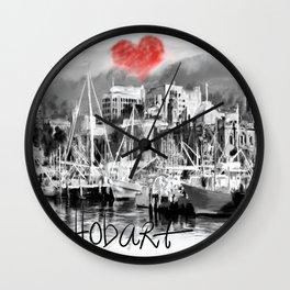 I love Hobart Wall Clock