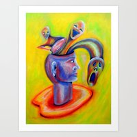 inner demons Art Prints featuring Inner Demons by Michael Anthony Alvarez