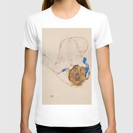 "Egon Schiele ""Nude with Blue Stockings, Bending Forward"" T-shirt"