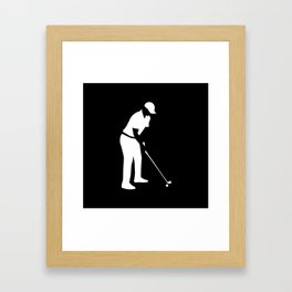 Golf player Framed Art Print