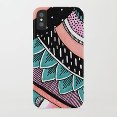 Pink & Coral Feather Pattern Slim Case iPhone X