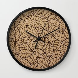 Lots-o-Leaves Wall Clock