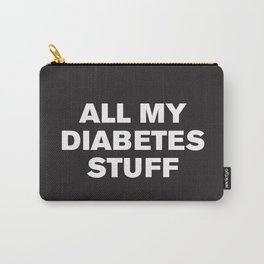 All My Diabetes Stuff (Black) Carry-All Pouch