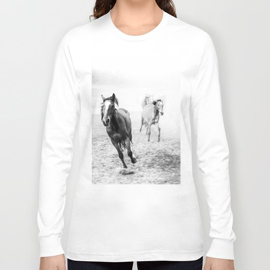 Running with the horses Long Sleeve T-shirt