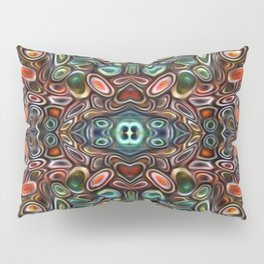 The Jubes - repeating pattern of small candy like glass shapes Pillow Sham