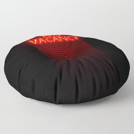 No Vacancy sign in red Floor Pillow