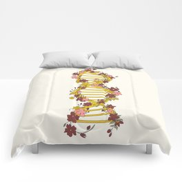Floral DNA Comforters